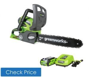 Greenworks cordless electric chainsaw