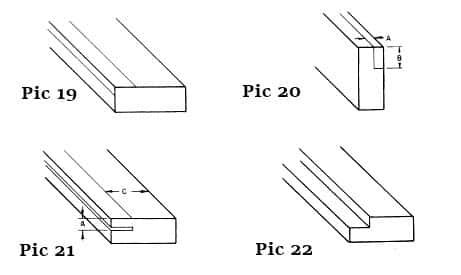 different saw cut techniques